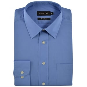 Double Two Kingsize SLX3300 Classic Long Sleeve Shirt Cornflower Blue