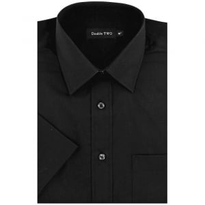 Double Two Kingsize SHX3300 Classic Short Sleeve Shirt Black