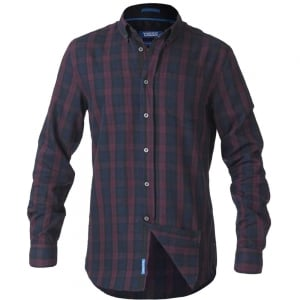 D555 Kingsize Nixon L/S Check Shirt Navy/Wine