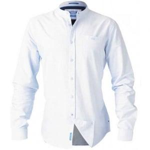 D555 Kingsize Bernard L/S Grandad Oxford Shirt Light Blue
