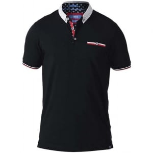 D555 Kingsize Garfield Stretch Polo Black