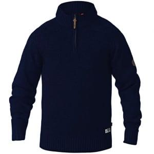 D555 Kingsize Tilden Zip Neck Knitwear Navy