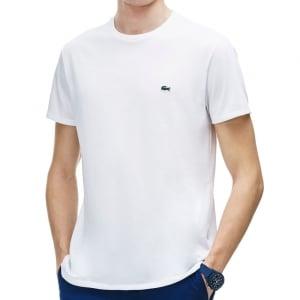 Lacoste Plus Size TH6709 Crew T-Shirt White