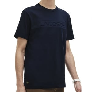 Lacoste Kingsize TH0883 Lettering T-Shirt Navy