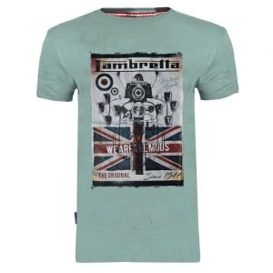 "Lambretta We Are The Mods Since 47 T-Shirt Sage (46-50"")"
