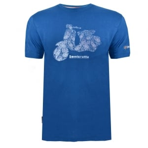 Lambretta Paisley Scooter T-Shirt Denim