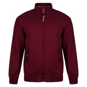 "Lambretta Harrington Jacket Burgundy (46-50"")"
