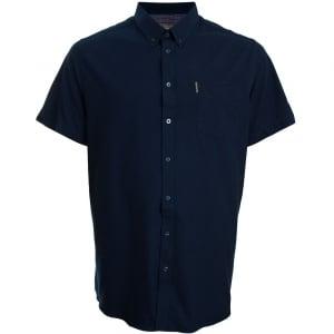 Ben Sherman Kingsize 48580 Oxford S/S Shirt Navy