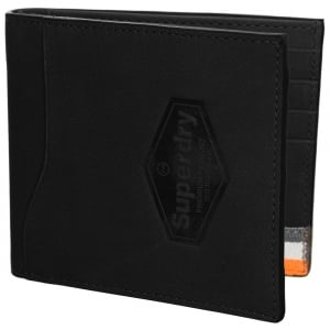 Superdry Windsor Leather Wallet In A Box Worn Black Buff
