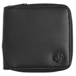 Fred Perry L2231 Textured Zip Bi-Fold Wallet Black