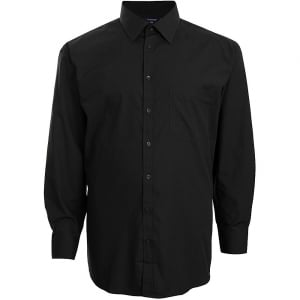 Espionage Kingsize SH151 Plain Collar L/S Shirt Black
