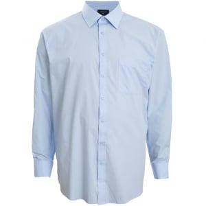 Espionage Kingsize SH151 Plain Collar L/S Shirt Blue