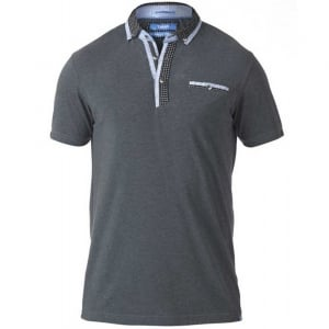 D555 Kingsize Jagger Stretch Polo Charcoal Melange