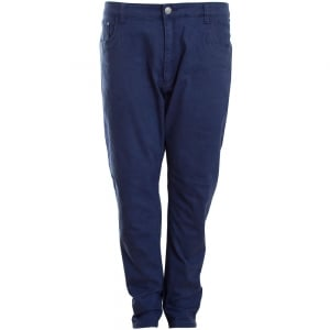Kam Jeans Kingsize Alba Slim Stretch Chinos Navy
