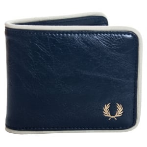 Fred Perry L3335 Classic Billfold Wallet Navy/Ecru