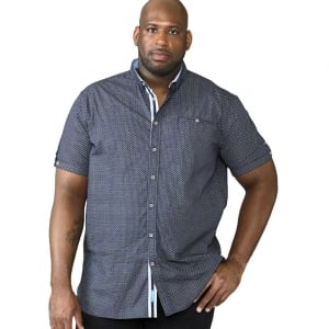 D555 Kingsize Patric S/S Shirt Navy