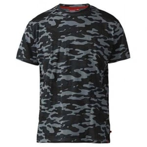 D555 Kingsize Gaston Camouflage T-Shirt Storm