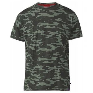 D555 Kingsize Gaston Camouflage T-Shirt Jungle