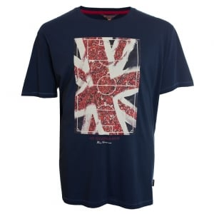 Ben Sherman Kingsize Union Jack T-Shirt Dark Navy