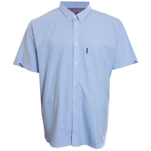 Ben Sherman Kingsize Oxford S/S Shirt Dusk Blue