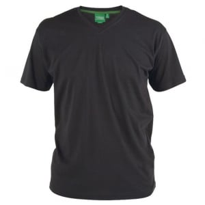 D555 Kingsize Signature V-Neck T-Shirt Black