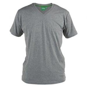 D555 Kingsize Signature V-Neck T-Shirt Grey Melange