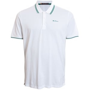 Ben Sherman Kingsize Script Twin Tipped Polo White
