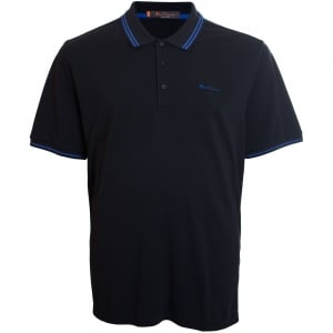 Ben Sherman Kingsize Script Twin Tipped Polo Black