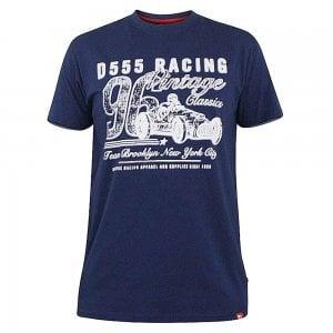 D555 Kingsize Vintage Racing T-Shirt Navy