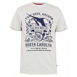 D555 Kingsize Big Rock Marlin T-Shirt Oatmeal