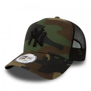 New Era NY Yankees Trucker Cap Camo/Black