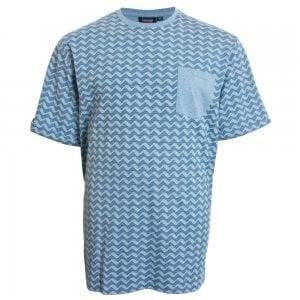 Espionage Kingsize T249 Wave T-Shirt Blue Marl