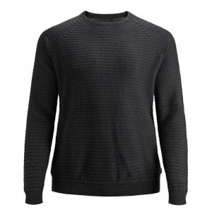 Jack & Jones Plus Size Core Wind Crew Knitwear Black