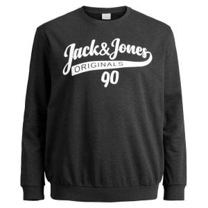 Jack & Jones Plus Size Originals Galions Brushed Sweatshirt Black