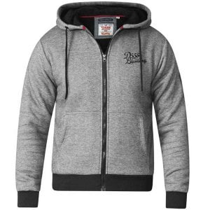 D555 Kingsize William Zip Hoodie Black