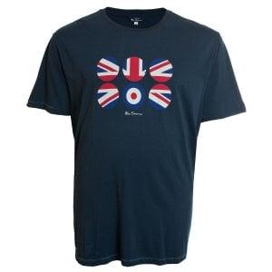 Ben Sherman Kingsize 52688 Target Flag T-Shirt Navy