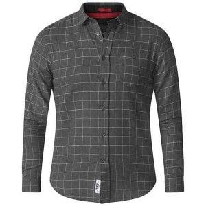D555 Kingsize Taylor Check L/S Shirt Charcoal