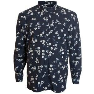 French Connection Kingsize 52KFQ Floral L/S Shirt Black