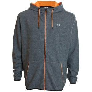 Jack & Jones Plus Size Core Nordic Zip Hoodie Dark Grey