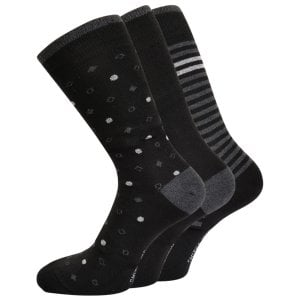 Smith & Jones Kingsize Smitty 3-Pack Socks Asstd