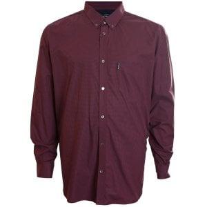Ben Sherman Kingzize 48542 Gingham L/S Shirt Ruby
