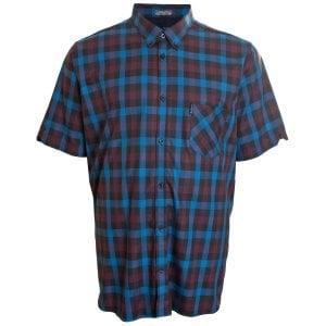 Ben Sherman Kingzize 53093 Check S/S Shirt Light Blue
