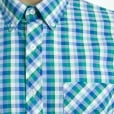 Espionage Kingsize SH224 Check S/S Shirt Green/Navy