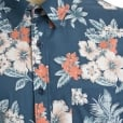 Espionage Kingsize SH235 Hawaiian S/S Shirt Deep Blue