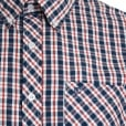 Espionage Kingsize SH236 Check S/S Shirt Navy/Red/White