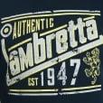 "Lambretta Authentic T-Shirt Navy (46-50"")"