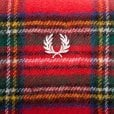 Fred Perry C2114 Royal Stewart Tartan Scarf Red