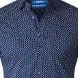 D555 Kingsize Lavar Diamond Pattern L/S Shirt Blue
