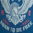 Espionage Kingsize T259 Born To Ride T-Shirt Petrol