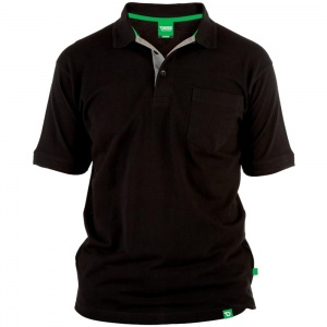 D555 Kingsize Grant Polo Black